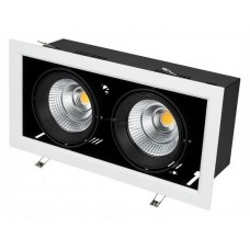 Встраиваемый светильник Arlight CL-KARDAN-S375x190-2x25W White6000 (WH-BK, 30 deg) 028862