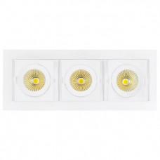 Встраиваемый светильник Arlight Cl-kardan CL-KARDAN-S260x102-3x9W Day (WH, 38 deg)
