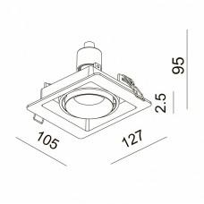 Встраиваемый светильник Donolux DL18615 DL18615/01WW-SQ Silver Grey/Black