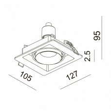 Встраиваемый светильник Donolux DL18615 DL18615/01WW-SQ White/Black