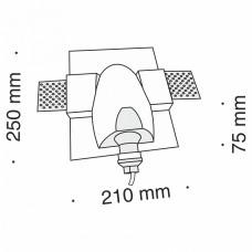 Встраиваемый светильник Maytoni Gyps Modern DL011-1-01W