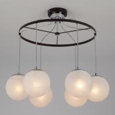 Подвесной светильник Eurosvet 70069 70069/6 хром/черный