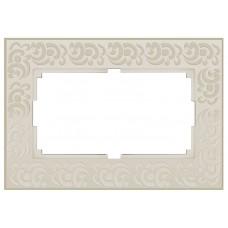 Рамка для двойной розетки Werkel  WL05-Frame-01-DBL-ivory