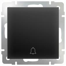 Кнопка звонка без рамки Werkel Черный матовый WL08-04-01