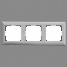 Рамка на 3 поста Werkel WL14 WL14-Frame-03 (Серебряный)