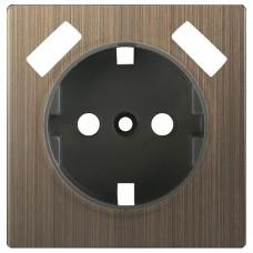 Накладка для розетки с заземлением и 2хUSB Werkel Бронзовый WL12-USB-CP
