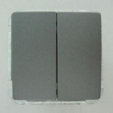 Выключатель двухклавишный без рамки Imex 1112L 1112L-S340