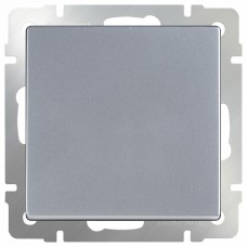 Выключатель перекрестной одноклавишный без рамки Werkel Серебряный WL06-SW-1G-C