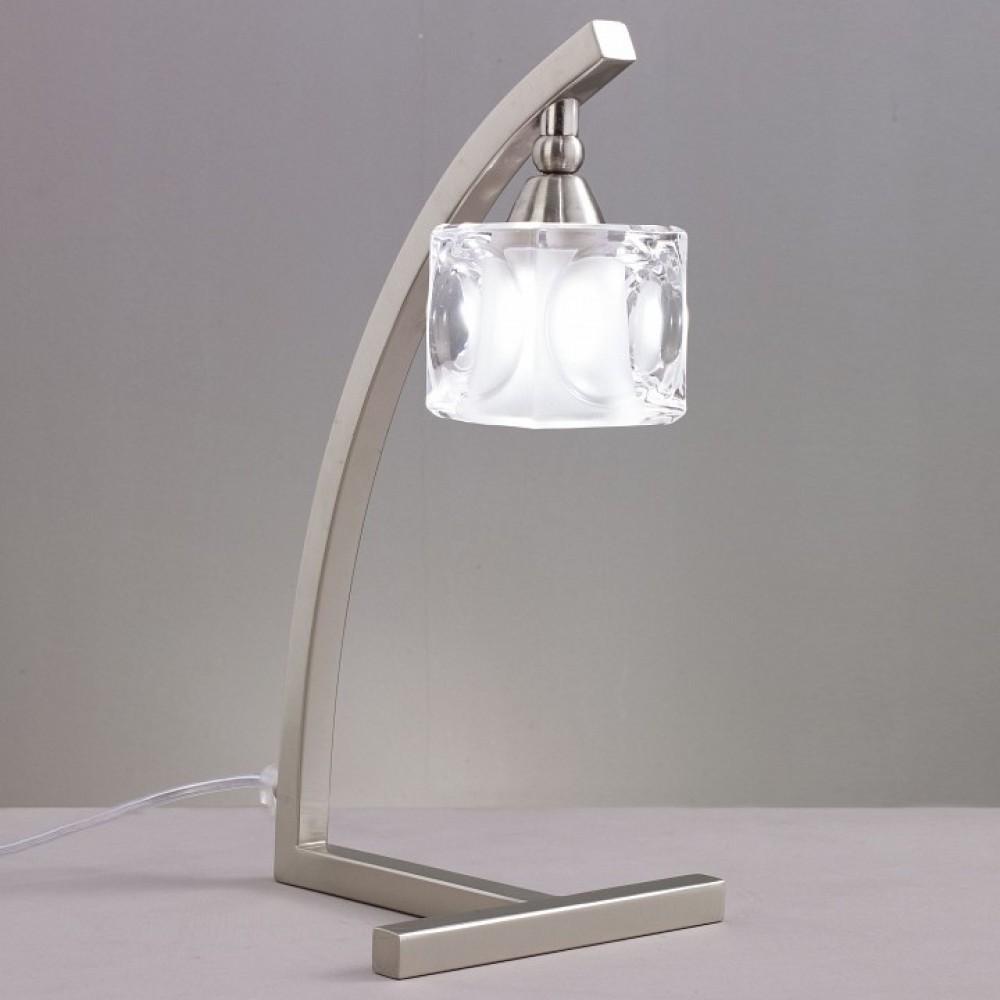 Настольная лампа декоративная Mantra Cuadrax 0004031 SATIN