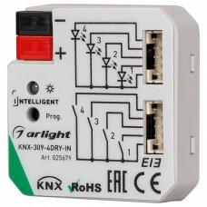 Контроллер штор Arlight Intelligent KNX-309-4DRY-IN (BUS)