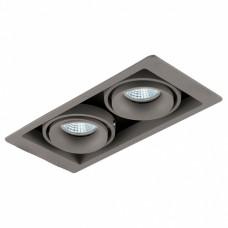 Встраиваемый светильник Donolux DL18615 DL18615/02WW-SQ Silver Grey/Black