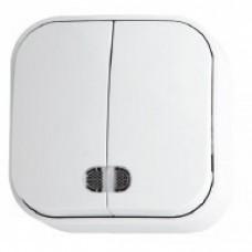 Выключатель двухклавишный Horoz Electric Eva HRZ01001489