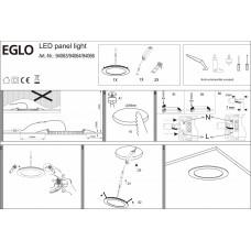Встраиваемый светильник Eglo ПРОМО Fueva 1 94066