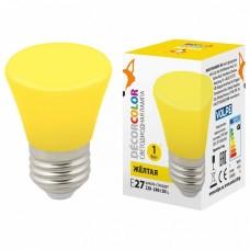 Лампа светодиодная Volpe Décor Color E27 1Вт K LED-D45-1W/YELLOW/E27/FR/С BELL
