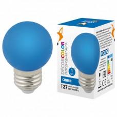 Лампа светодиодная Volpe Sky E27 1Вт K LED-G45-1W/BLUE/E27/FR/С