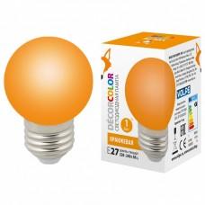 Лампа светодиодная Volpe Sky E27 1Вт K LED-G45-1W/ORANGE/E27/FR/С
