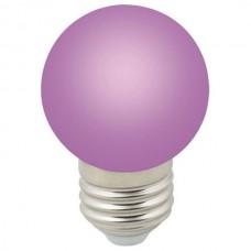 Лампа светодиодная Volpe Sky E27 1Вт K LED-G45-1W/PURPLE/E27/FR/С