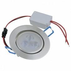 Встраиваемый светильник Volpe ULM-Q262 ULM-Q262 3W/DW IP65 SILVER