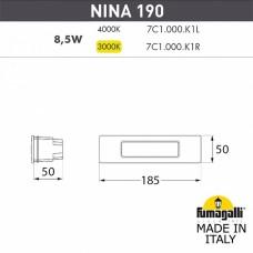 Встраиваемый светильник Fumagalli Nina 7C1.000.000.WYK1L