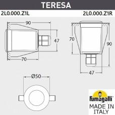 Встраиваемый светильник Fumagalli Teresa 2L0.000.000.AXZ1L