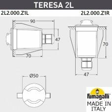 Встраиваемый светильник Fumagalli Teresa 2L2.000.000.ALZ1L