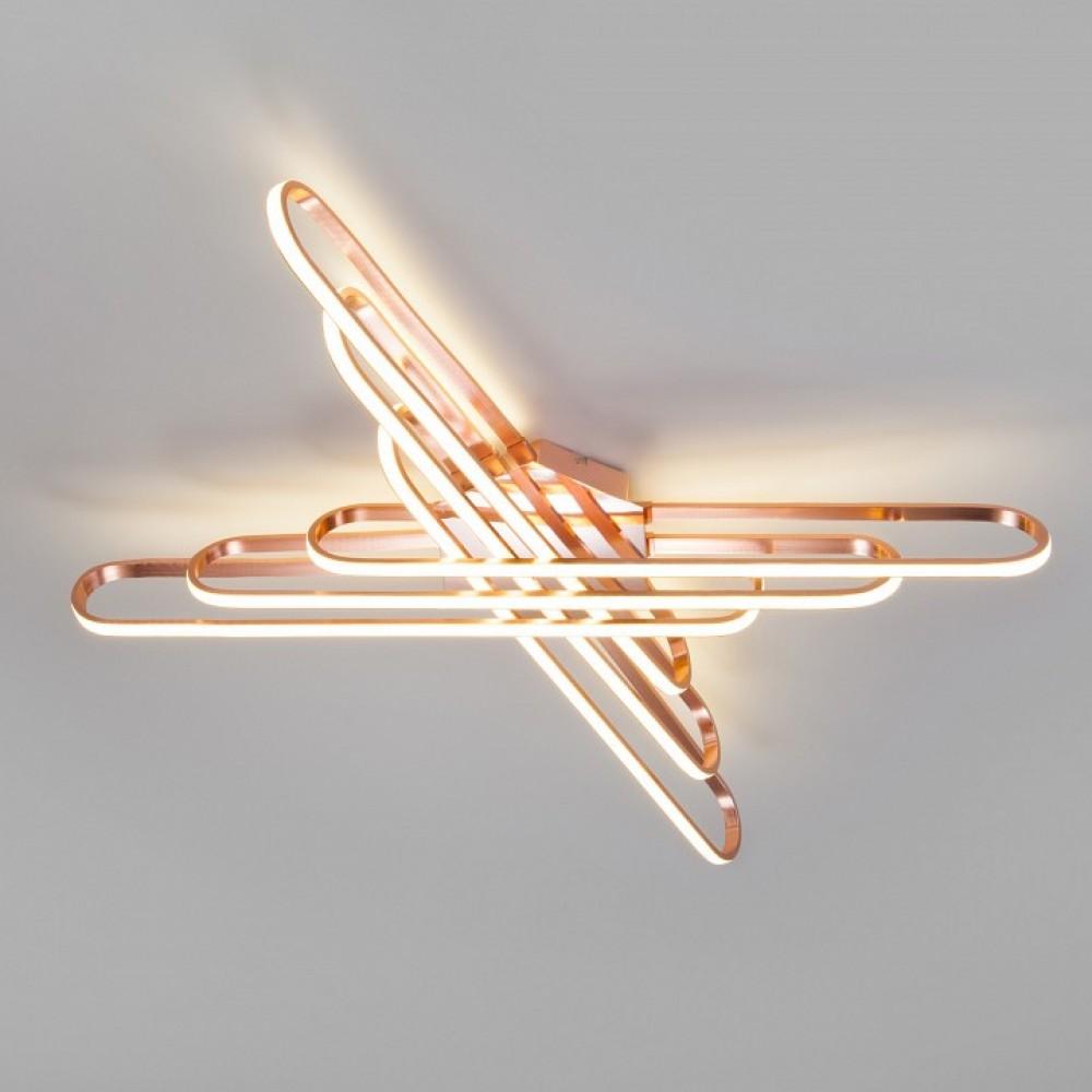 Накладной светильник Eurosvet Staple 90133/6 розовое золото 156W