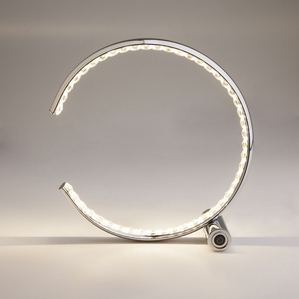 Настольная лампа декоративная Eurosvet Vortex 80411/1 хром 10W