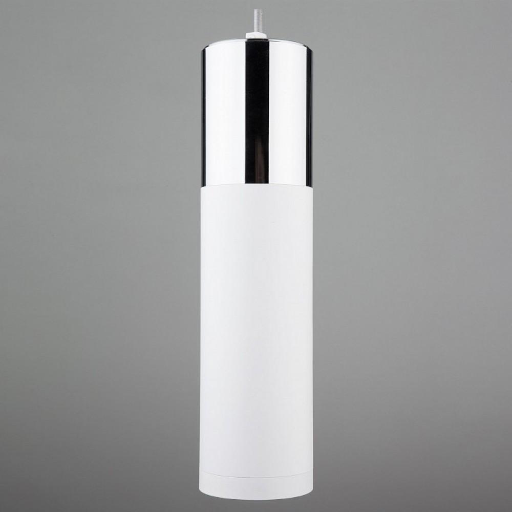 Подвесной светильник Eurosvet Double Topper 50135/1 LED хром/белый 12W