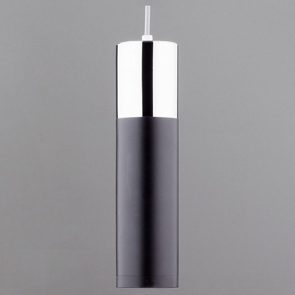 Подвесной светильник Eurosvet Double Topper 50135/1 LED хром/черный 12W