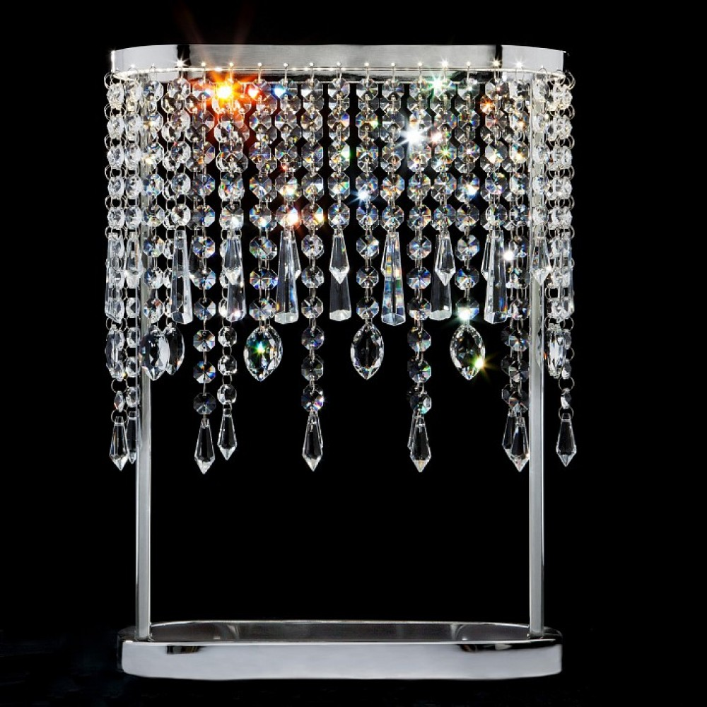 Настольная лампа декоративная Eurosvet Sicilia 80413/1 хром 6W