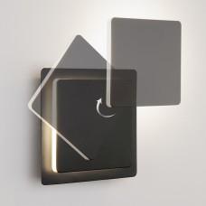 Накладной светильник Eurosvet Screw 40136/1 черный 6W