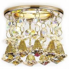 Встраиваемый светильник Ambrella Crystal 12 K2233 G/PR