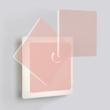 Накладной светильник Eurosvet Screw 40136/1 белый/розовый 6W