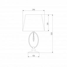 Настольная лампа декоративная Eurosvet Madera 01055/1 хром/прозрачный хрусталь Strotskis