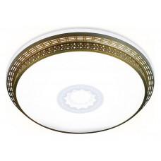 Накладной светильник Ambrella Orbital Design F130 WH GD 72W D500