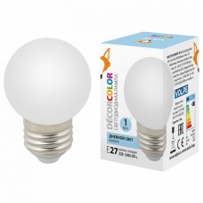 Лампа светодиодная Volpe Sky E27 1Вт 6000K LED-G45-1W/6000K/E27/FR/С