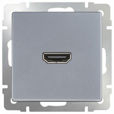 Розетка HDMI без рамки Werkel Серебряный WL06-60-11