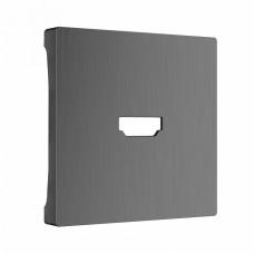 Накладка для ТВ-розетки Werkel WL04-HDMI-CP (графит рифленый)