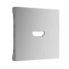 Накладка для ТВ-розетки Werkel WL09-HDMI-CP (серебряный рифленый)