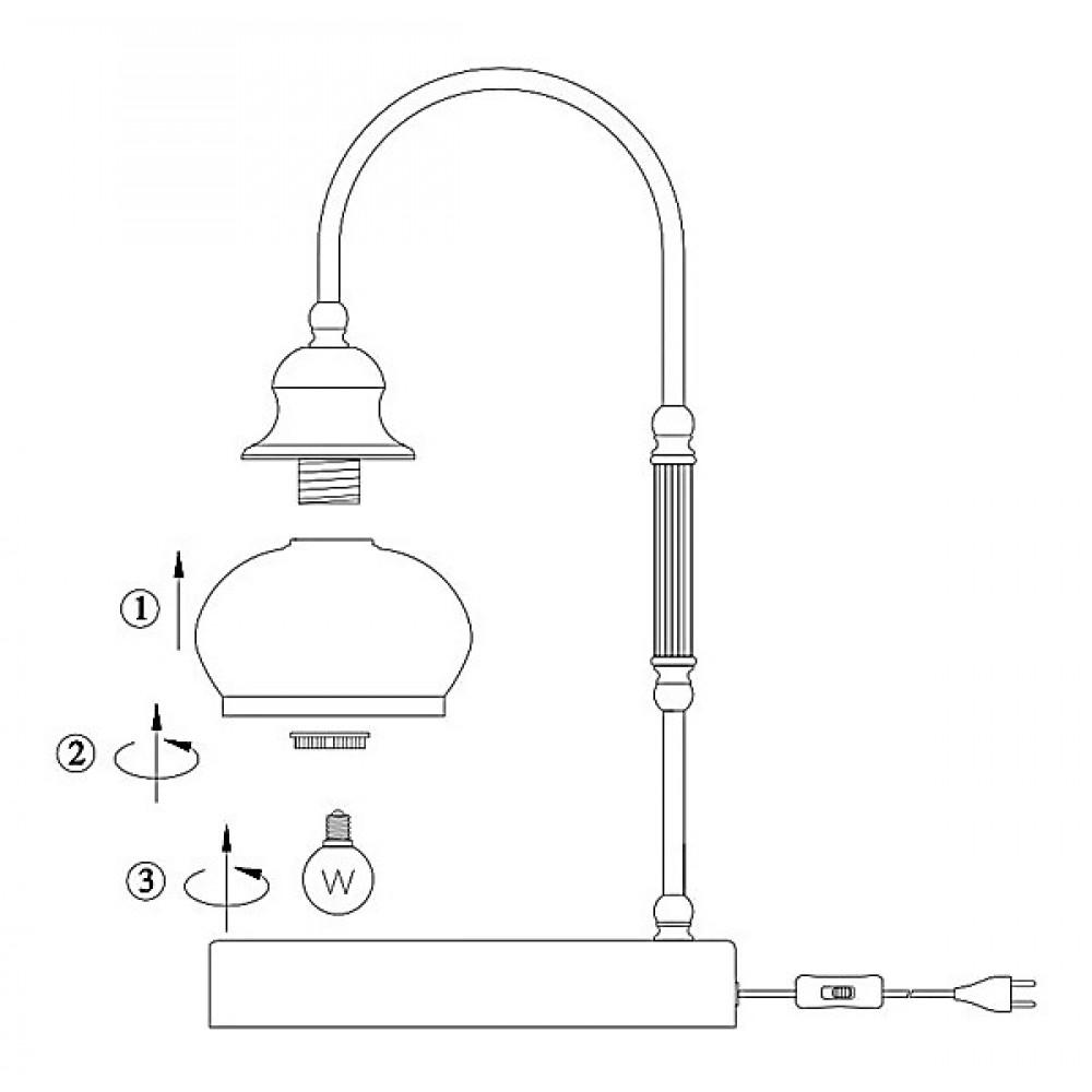 Настольная лампа декоративная Globo Nostalgika 6900-1T
