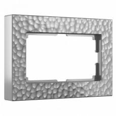 Рамка для двойной розетки Werkel W0082406 (серебряный)