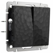 Выключатель двухклавишный без рамки Werkel W1220008 (черный)