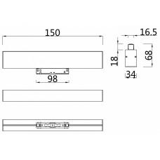 Накладной светильник Maytoni Basis TR012-2-7W3K-W