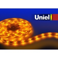 Лента светодиодная [5 м] Uniel ULS-3528 ULS-3528-60LED/m-8mm-IP33-DC12V-4,8W/m-5M-YELLOW катушка в герметичной упаковке