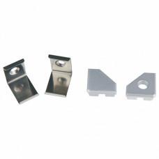 Набор заглушек и скоб для профиля Uniel UFE-N03 SILVER A POLYBAG UL-00000623