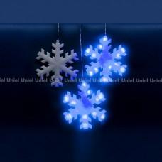Занавес световой [2.7x3 м] Uniel Снежинки 11128