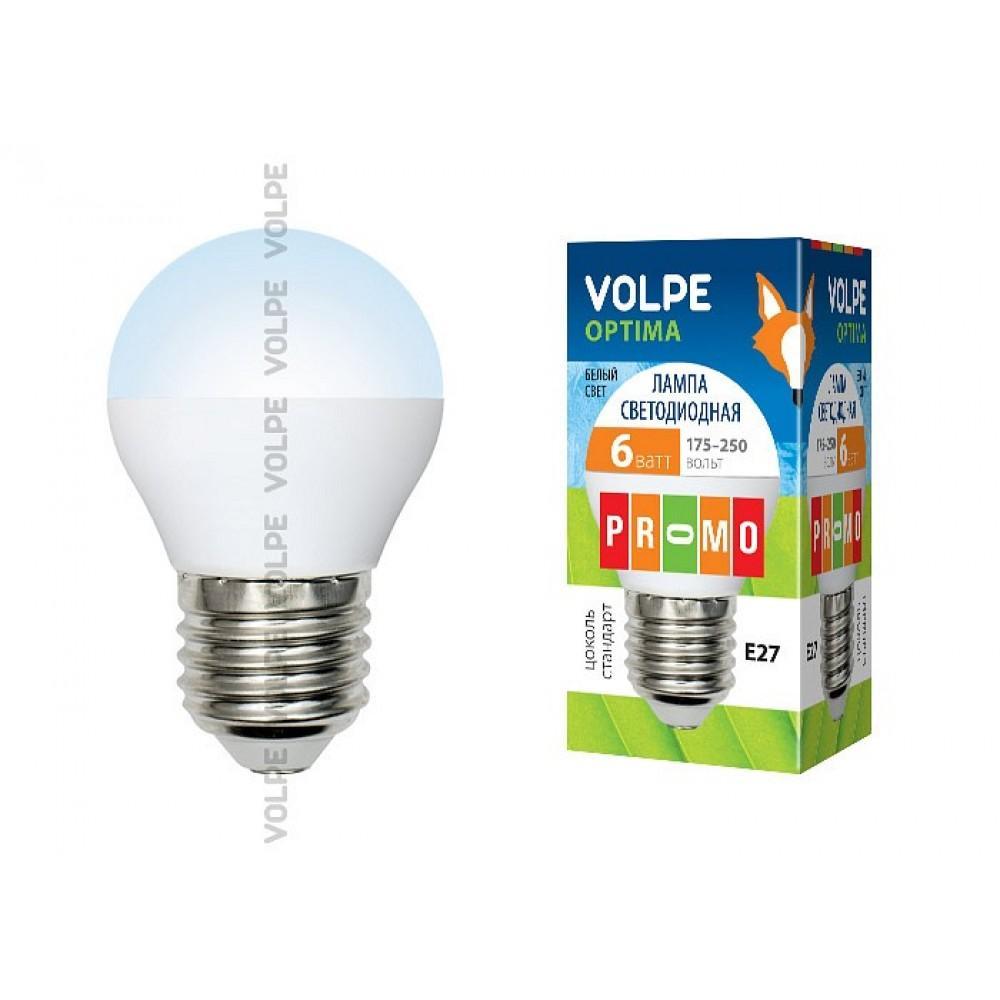 Лампа светодиодная Uniel E27 6Вт 4000K 10216