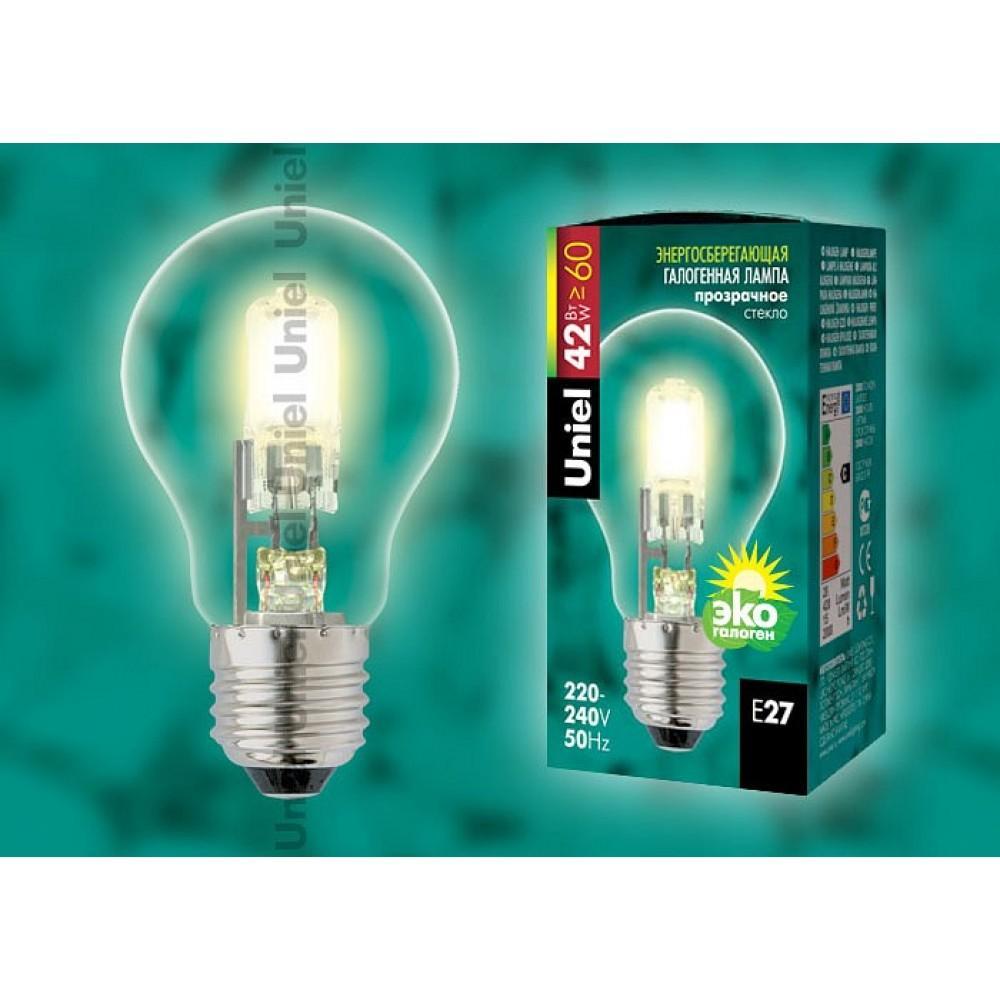 Лампа галогеновая Uniel E27 42Вт K 5226