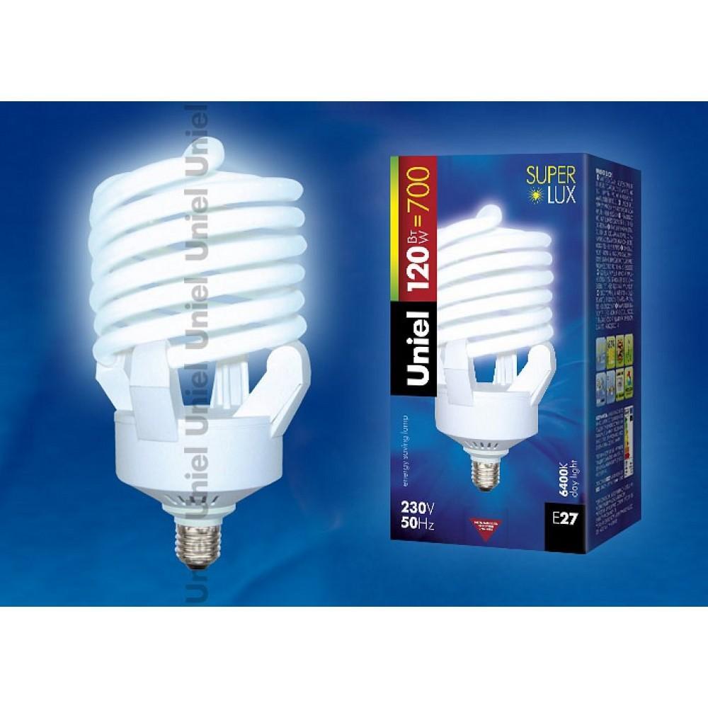 Лампа компактная люминесцентная Uniel E27 120Вт 6400K 07180