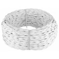 Провод электрический [50 м] Werkel белый Ретро W6453601